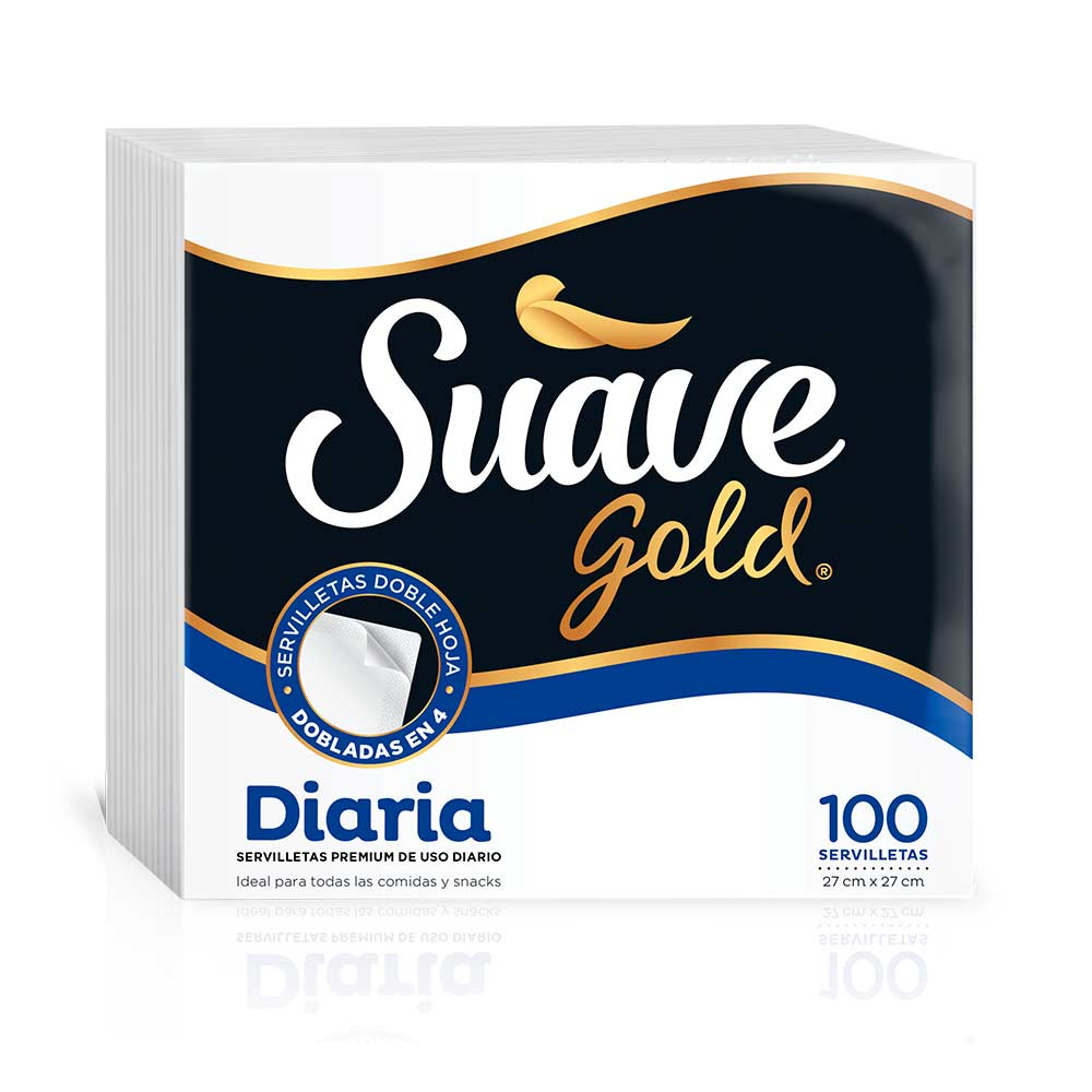 Servilletas Suave Gold Diaria