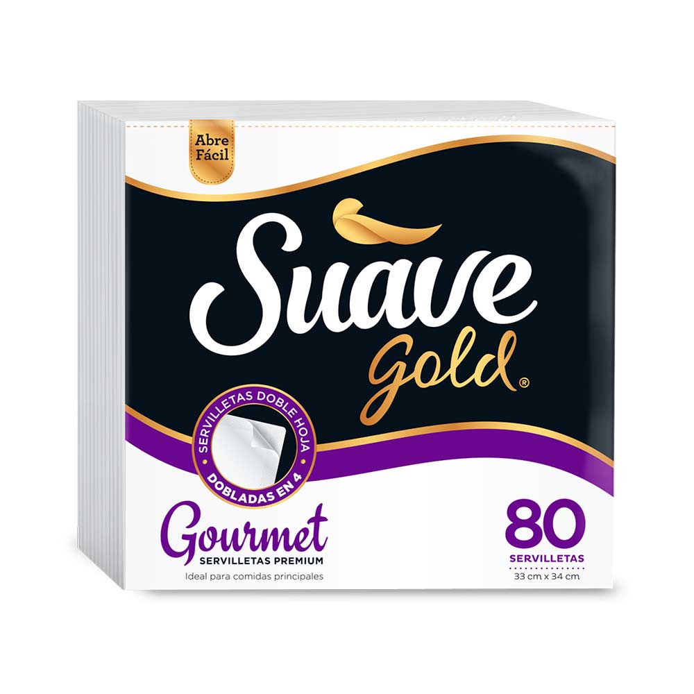 Servilletas Suave Gold Gourmet