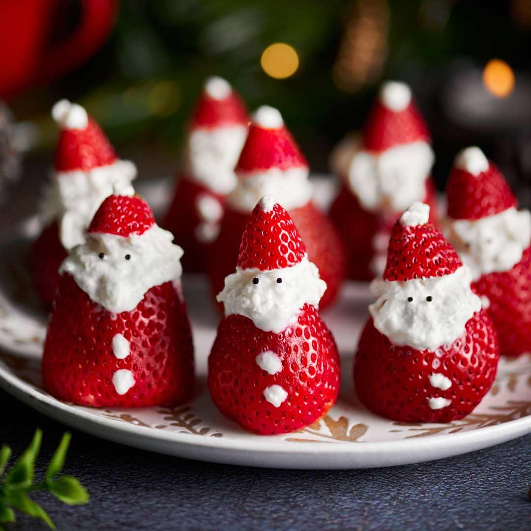 Papá Noel de fresa